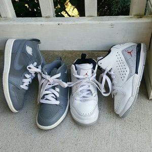 Toddler boys Nike Air Jordan bundle 2 pairs shoes